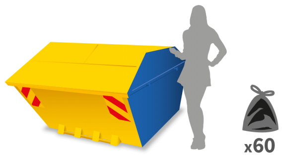 6-yard skip enclosed